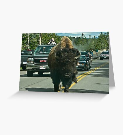 Road block Greeting Card