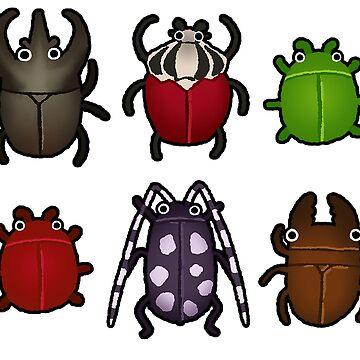 A Variety Of Beetles by petakov-kirk