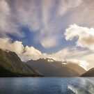 White Dragon Cloud in the Sky at Lake Manapouri by Danielasphotos