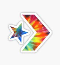 Tie Dye Converse Logo  Sticker