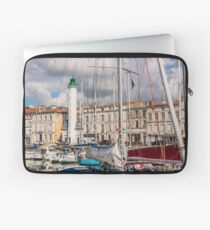 View of yachts in the old port, La Rochelle France Laptop Sleeve
