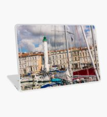 View of yachts in the old port, La Rochelle France Laptop Skin