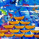 Sailboats - Oil on Canvas - 7032 x 5274, 300 px by Bruno Beach