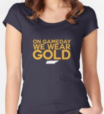 On Gameday We Wear Gold - Nashville Predators Women's Fitted Scoop T-Shirt