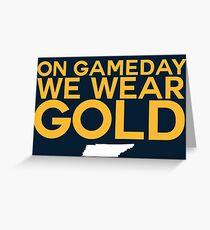 On Gameday We Wear Gold - Nashville Predators Greeting Card