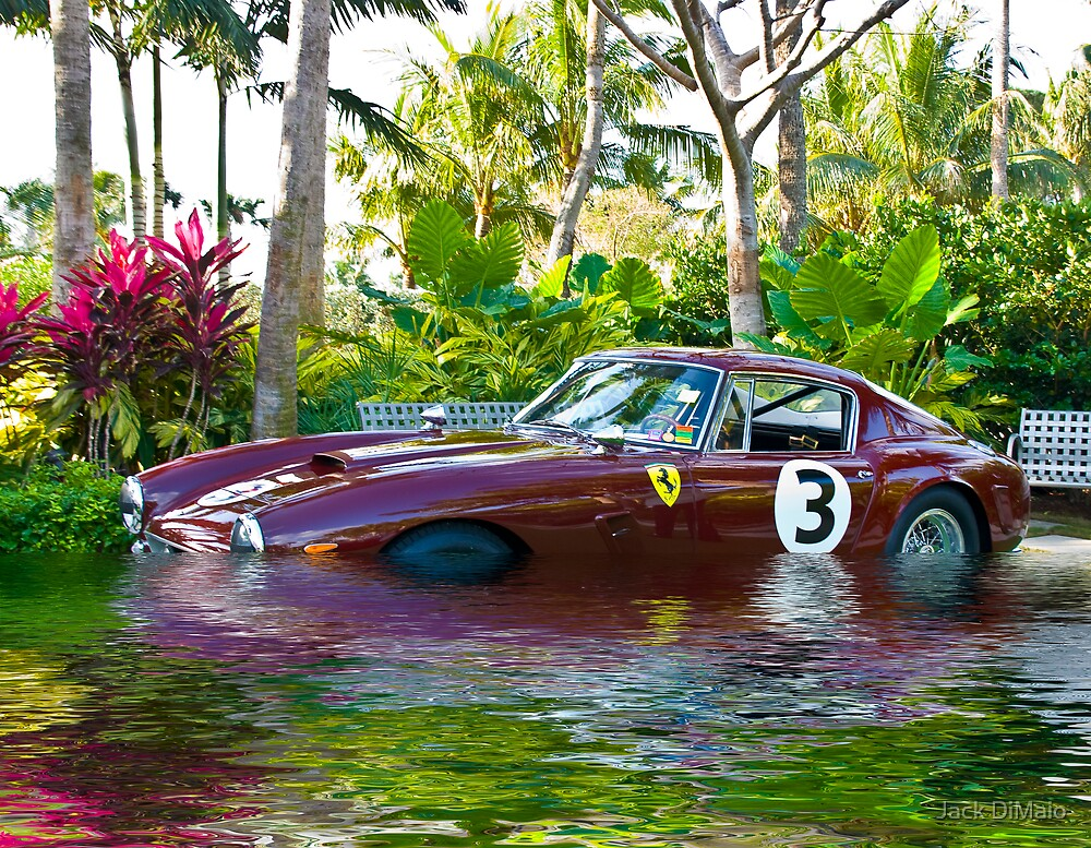 Ferrari 1951 212 Export Vignale Cabriolet, Under Water by Jack DiMaio