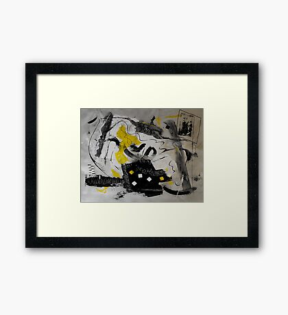 Moods Yellow (Lettin' It All Hang Out) Framed Print