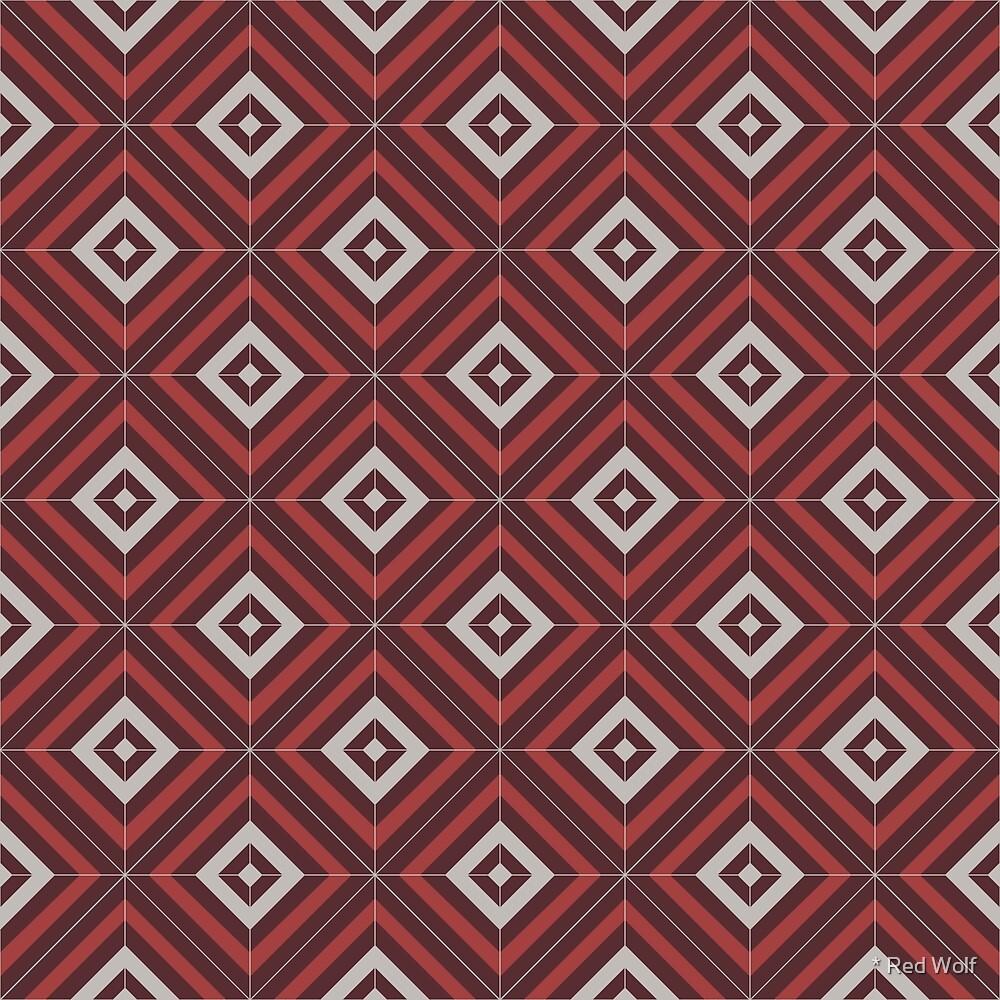 Geometric Pattern: Diamond Weave: Berry by * Red Wolf