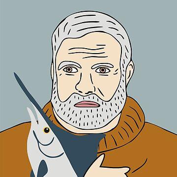 Ernest Hemingway by marinayahooo