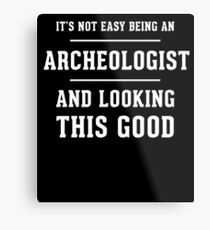 Archeologist Mom Dad Gift Metal Print