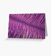 Purple Quill Greeting Card
