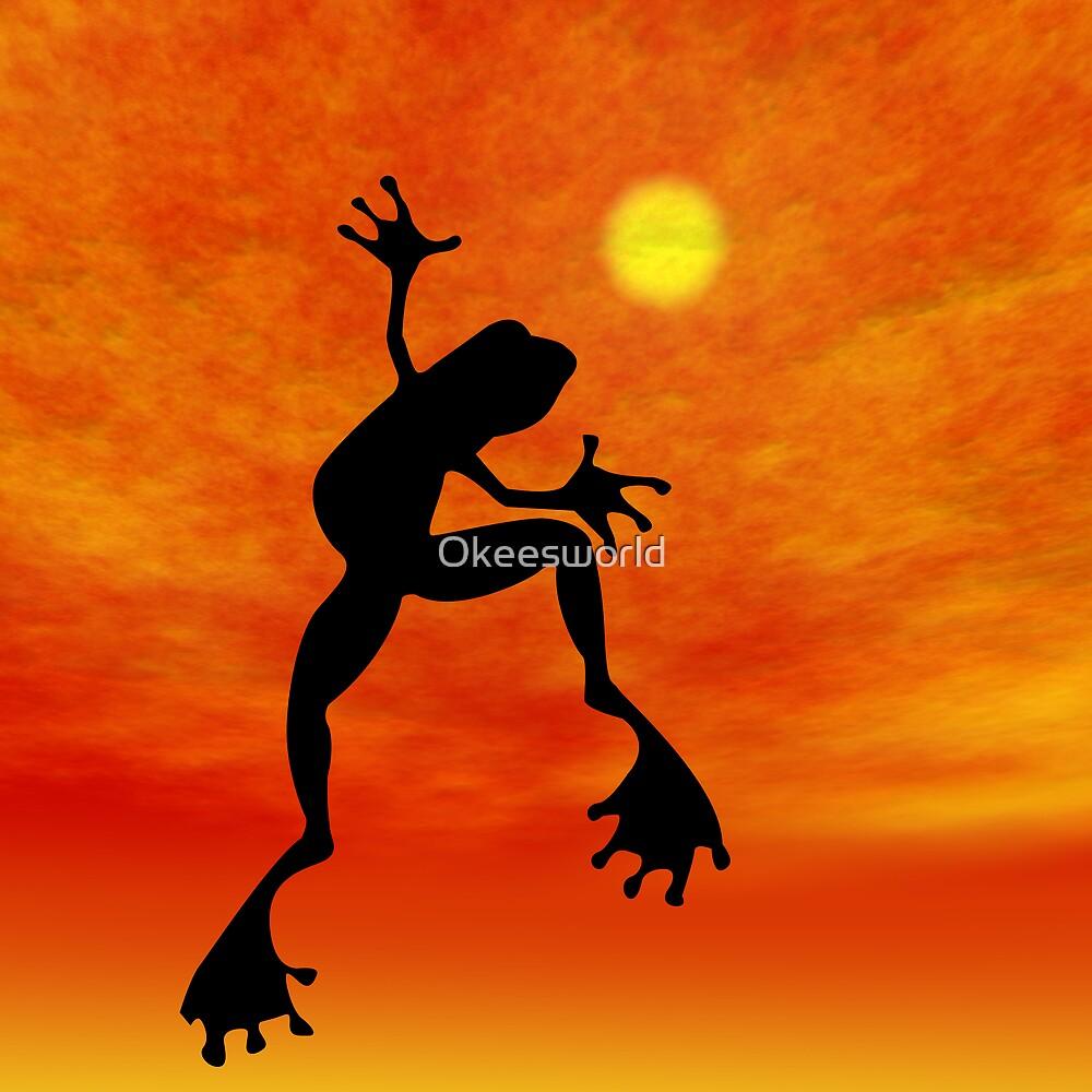 Frog Dancing by Okeesworld