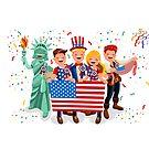«Happy Usa Independence Day 4 de julio» de aurielaki
