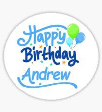 Happy Birthday Andrew Sticker