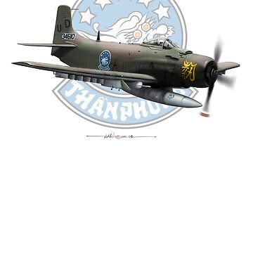 VNAF A-1H - 83rd SOG with background logo (lager image for Hoodie) by ACVuConcepts