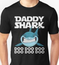 Papa Shark Doo Doo Doo Vatertag T-shirt Slim Fit T-Shirt