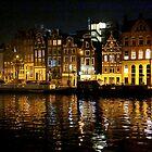 Amsterdam by night by annalisa bianchetti