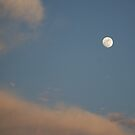 Full Moon & Clouds by Peri