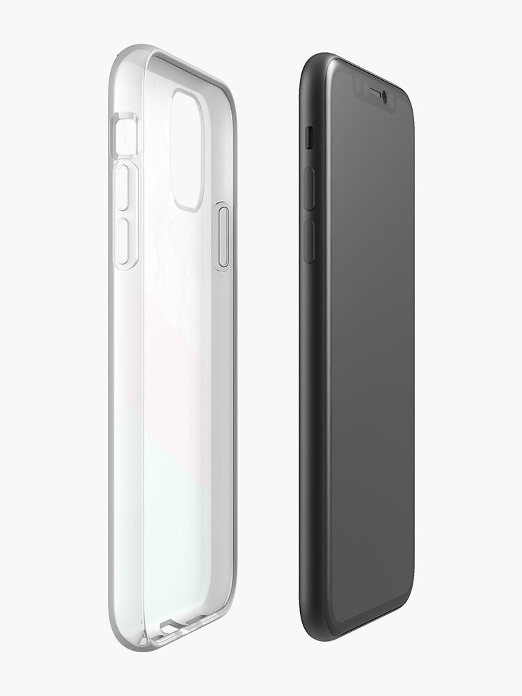 Coque iPhone «Cercle de marbre esthétique», par warddt