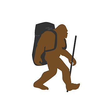 Bigfoot Hiking Funny Design  by kudostees