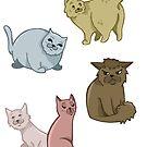 Kitty cat stickers by mimi111art