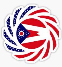 Ohio Murican Patriot Flag Series Sticker