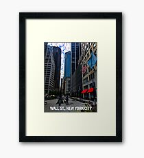 Wall Street, NYC Framed Print