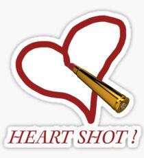 Heart shot! Sticker