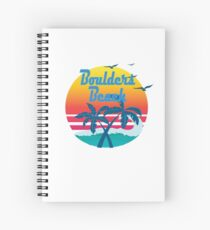 Boulders Beach, summer retro vintage Spiral Notebook
