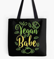 Vegan Babe Vegetarian Vegan Tote Bag