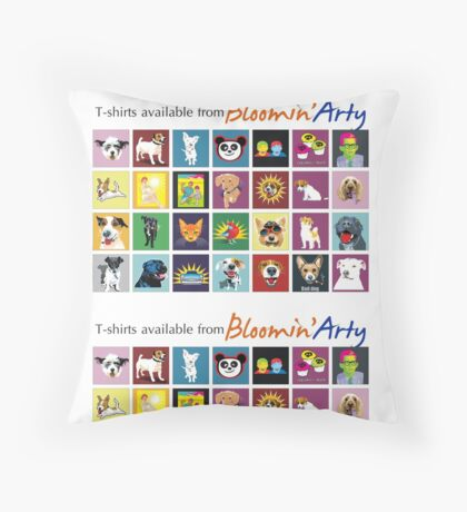 Bloomin' Arty T-Shirts Throw Pillow