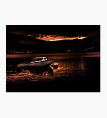 Sunset at Loch Long Photographic Print