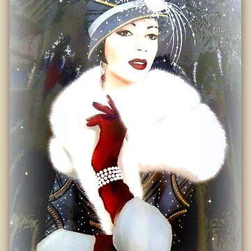 Art Deco Lady with hat by angel1