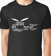 Drag Lift Thrust Weight Graphic T-Shirt