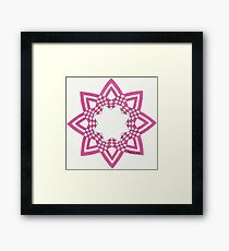 Checkered rosette Framed Print