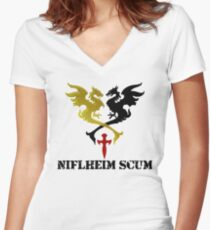 Niflheim Scum Women's Fitted V-Neck T-Shirt