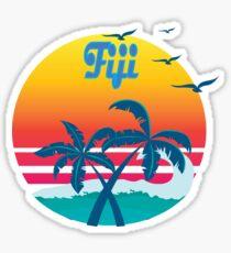 Fiji, summer retro vintage Sticker