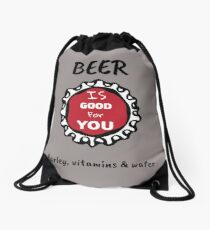 Drink Beer Shirt - Bar Shirt - Beer Bar Shirt - Fun bar tee - Fun Bar shirt - Fun Bar tee - Barman Shirt - Pub tee - Pub Shirt Drawstring Bag