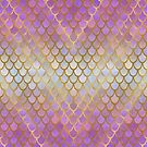 Purple and Gold Mermaid Scales by artlovepassion