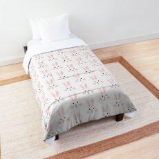 rabbit face pink Comforter