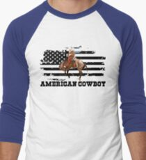 American Cowboy T-Shirt Hoodie Products Men Women Men's Baseball ¾ T-Shirt