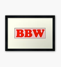 BBW - big beautiful woman Framed Print