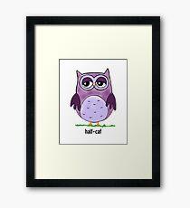Coffee Owl- Half Caf Framed Print