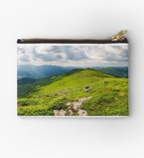 panorama of great Carpathian water dividing ridge Studio Pouch