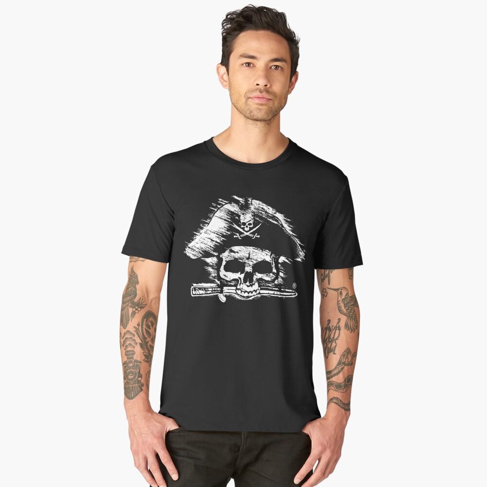 Pirates Adventure Mallorca Merchandise Skull Black Men's Premium T-Shirt Front