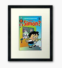 Little Horror Flicks - Where's Simón? Framed Print