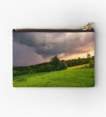 beautiful countryside on a cloudy sunset Studio Pouch