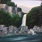 Waterfall  by amdunnart
