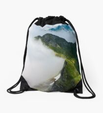 clouds rising in Fagaras mountains Drawstring Bag