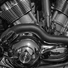 Bike Engine in Schwarz und Weiß von Jay Lethbridge
